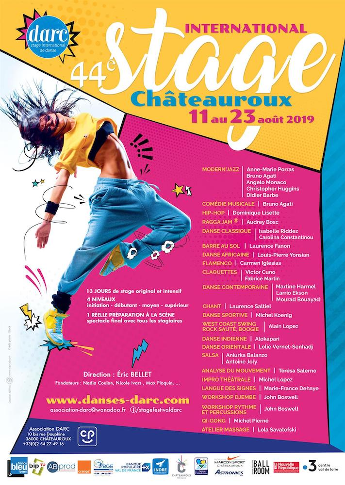 Affiche stage danse chateauroux 2019