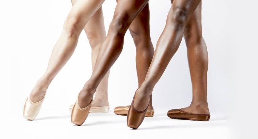 Chaussons de pointes de couleur bronze ou marron