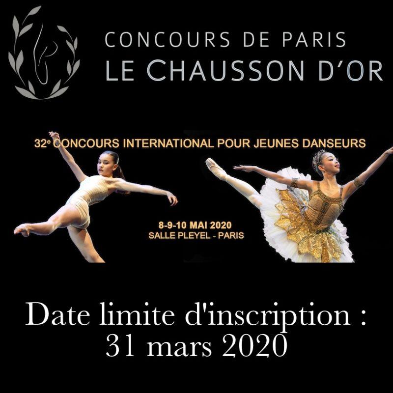Inscription au concours Le Chausson d'Or 2020