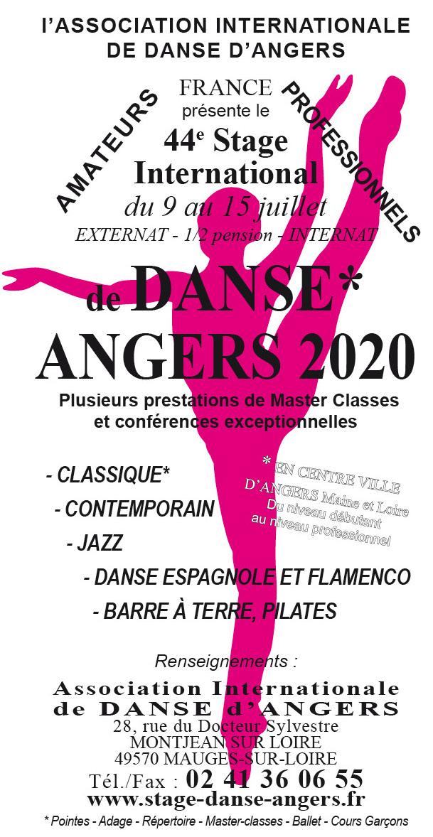 Stage de danse Angers 2020