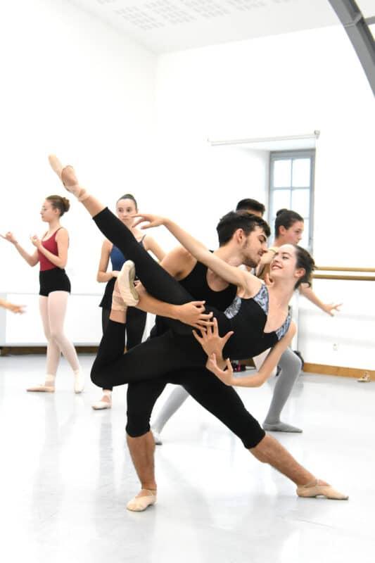 Porté (poisson) cours de pas de 2, stage de danse classique Theilaïa