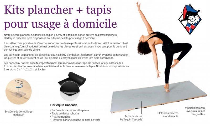 Plancher + tapis de danse à domicile