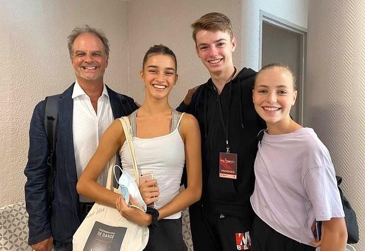 3 élèves du VM Ballet à Prodiges 2020, avec Matthew Madsen
