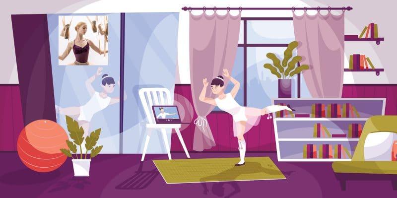 Cours de danse classique en streaming