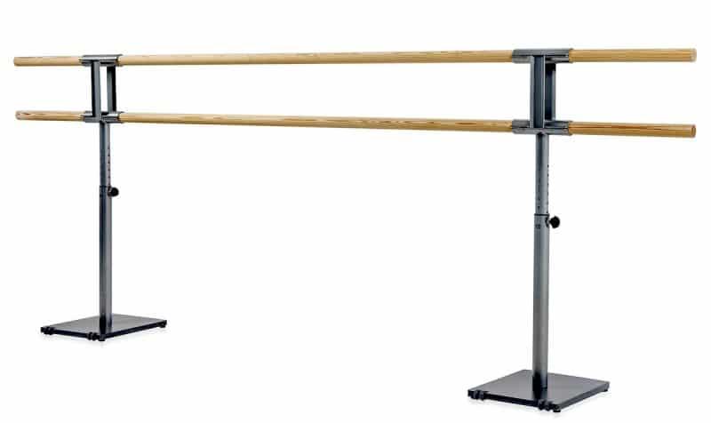 Barre de danse classique mobile double ajustable en hauteur