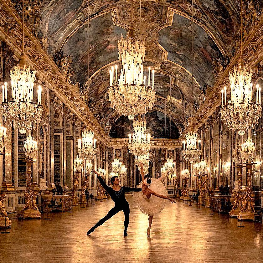 Hugo Marchand et Dorothée Gilbert à Versailles