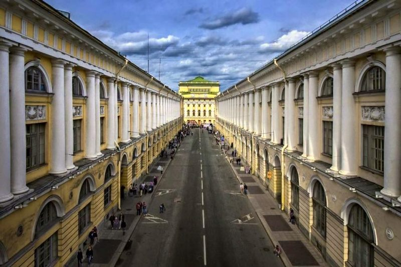 rue Rossi, académie Vaganova St Petersbourg