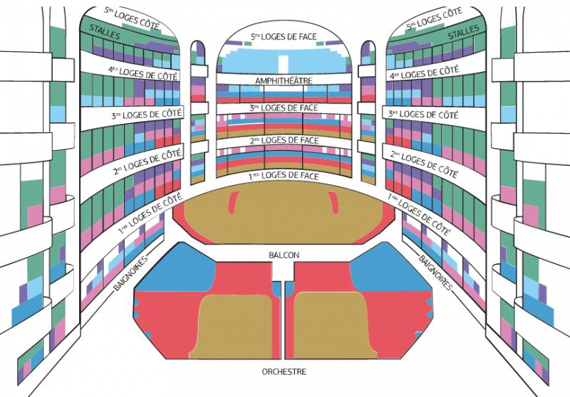 Plan des places dans le Palais Garnier