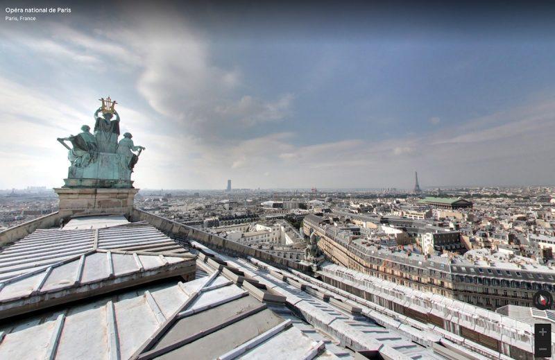 Toit de l'opéra Garnier à Paris